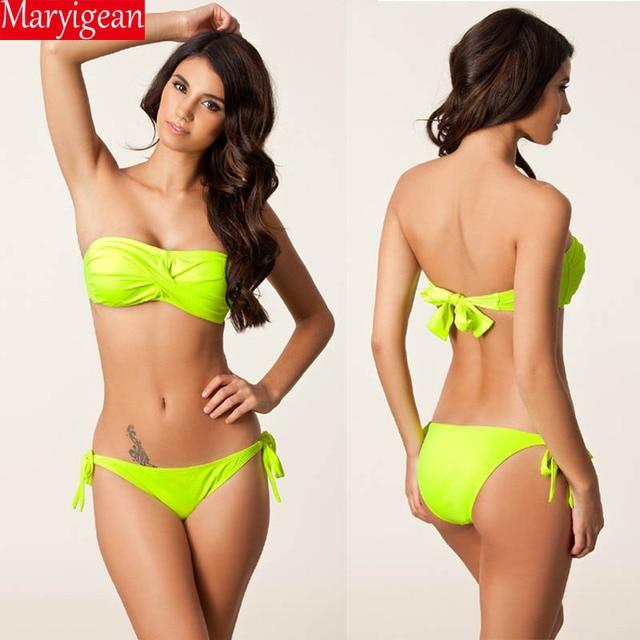 2f856eedfae Maryigean 2018 New Bather Sexy bikini Set Push Up Swimsuit Female Swimwear  Women Bikini Bathing Suit Swim Wear Biquini Trikini