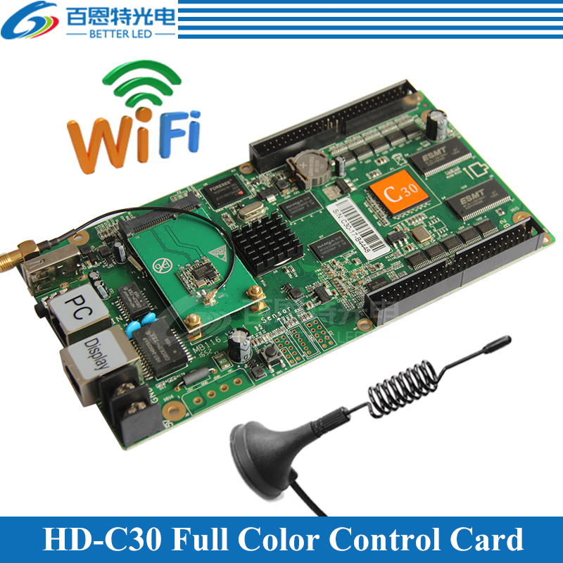 HD-C30 WIFI+USB+2 Ethernet Port(can be used as sending card) Asynchronous Video Full Color LED display WIFI Control CardHD-C30 WIFI+USB+2 Ethernet Port(can be used as sending card) Asynchronous Video Full Color LED display WIFI Control Card