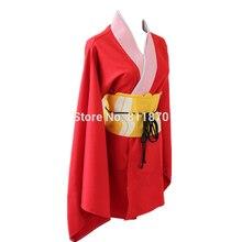 Gintama kagura cosplay dress kimono anime trajes de las mujeres