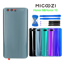 For Huawei Honor 10 Back Battery Cover Rear Door Parts For Huawei Honor 9 Glass Battery Cover Housing Panel Replacement Tools new back glass for huawei honor 9x battery cover panel rear door housing case replacement for huawei honor 9x pro battery cover