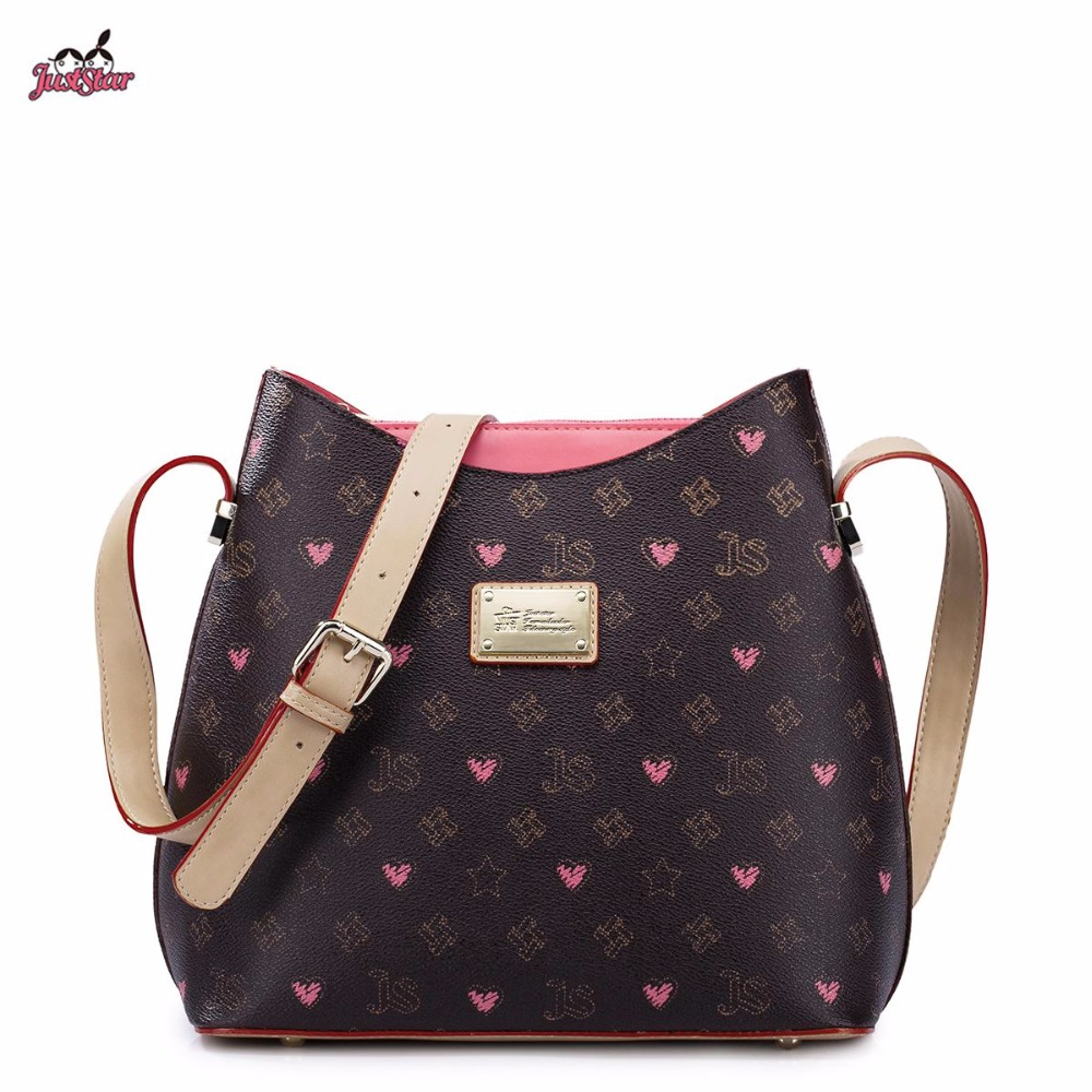 ФОТО Just Star Brand Design Fashion Graffiti Printing PVC with PU Leather Women Shoulder Bag Gift For Girl