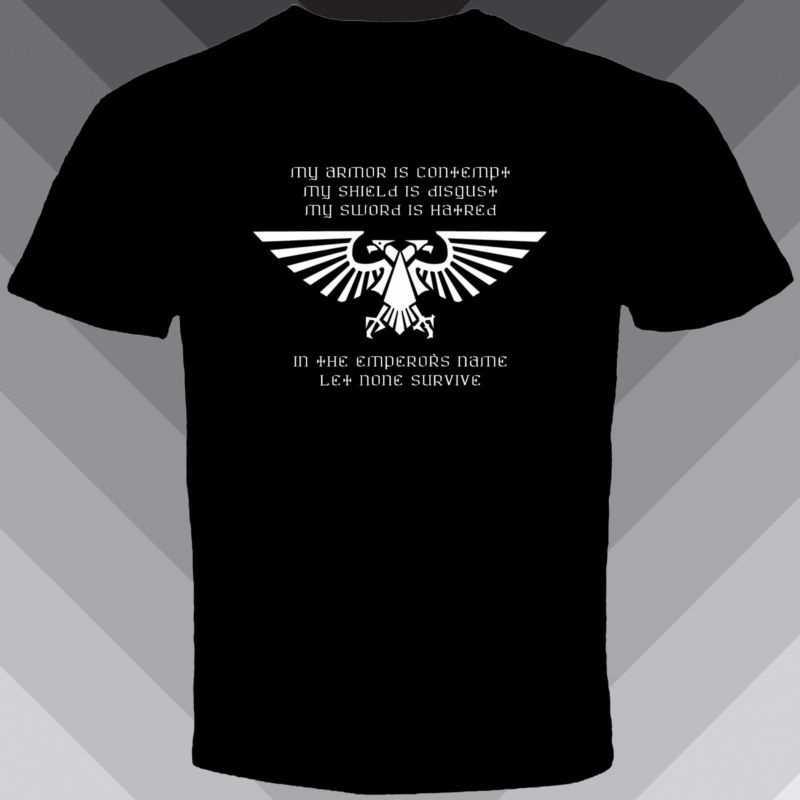 Los hombres t camisa camiseta camisetas tee negro Nuevo Warhammer 40 k  Aquila águila Imperial juegos eb14caad5f243