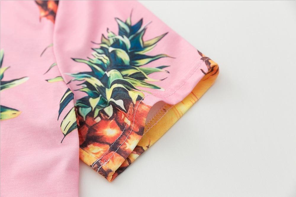 HTB1RXDoQVXXXXabapXXq6xXFXXX3 - Top Hot Sequined Print Pineapple Women t shirt Short Sleeve