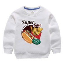 Children's wear boy Nvhaiziweiyi 2019 new autumn fries pattern printing spring and autumn cover in the children's autumn jacket bierelinnt autumn