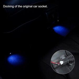 Image 3 - QHCP LED Auto Luci Datmosfera Suole Ambient Mood Lampada Interna Del Piede Decorativo in Forma di Luce Per Toyota Camry 2018 Auto Accessori