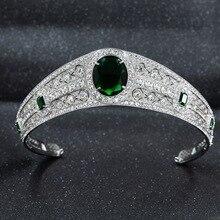חדש אמיתי אוסטרי ריינסטון CZ נסיכת לאז ני חתונה כלה נזר כתר לנשים אביזרי תכשיטי HG086A