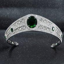 Strass cz princesa eugenie, noiva tiara coroa para mulheres acessórios joias hg086a