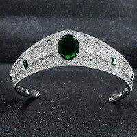 NEW Real Austrian Rhinestone CZ Princess Eugenie Wedding Bridal Tiara Crown For Women Accessories Jewelry HG086A
