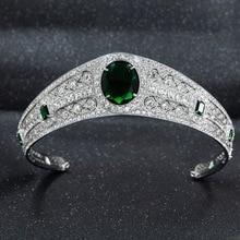 NIEUWE Echte Oostenrijkse Rhinestone CZ Prinses Eugenie Wedding Bridal Tiara Kroon Voor Vrouwen Accessoires Sieraden HG086A