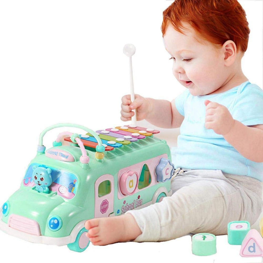 Baby Toys 0 12 13 24 Months Piano Bus Toys Educational Musical Toys For Baby Toddlers Baby Boy Toys Rinquedos Para Bebe Oyuncak