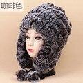 Keep Warm Rex Rabbit's Hair russian ushanka Hats Earmuffs Hair And Fur You Ma'am Time Wool Hat Autumn furry Winter Quarter Day