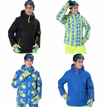 HW2016 NEW arrival Men Hooded Outdoor Waterproof Hiking Ski Snow Jacket Windproof Coat M-XXL