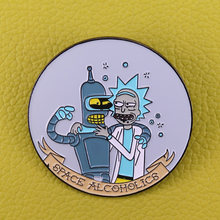 Space alcoholics Pin mejor duet de mizanthopes insignia Rick y Morty regalo(China)