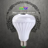 Magical LAMP E27 12W Multi Color Flash Wireless Buletooth LED Music Player Audio Speaker Bulb Portable
