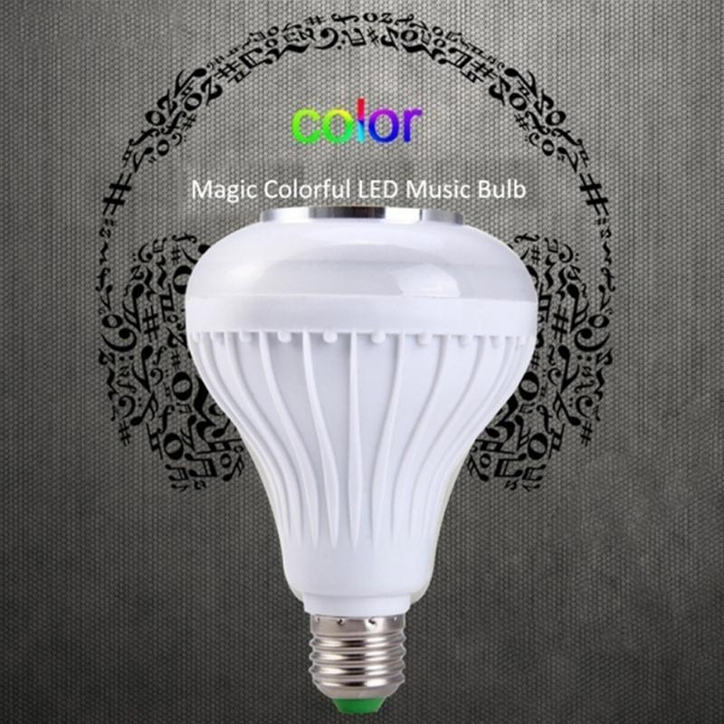 Magical LAMP E27 12W Multi-color Flash Wireless Buletooth LED Music Player Audio Speaker Bulb Portable Lamp With Remote control