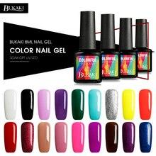 BUKAKI Hybrid Painting Gel Nail Polish Pure Colors UV for Gel Varnish Colorful Need Top Base Coat Primer Nail Gel Lacquer