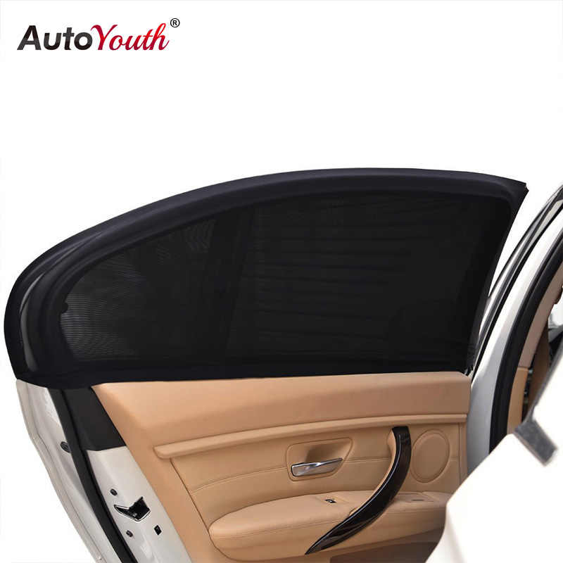 AUTOYOUTH (2 Pack) Side Window Sunshades For Car Windows - Sun, Glare And UV Rays Protection For Your Child Baby Side Window Car