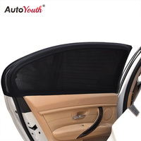 AUTOYOUTH 2 Pack Side Window Sunshades For Car Windows Sun Glare And UV Rays Protection For