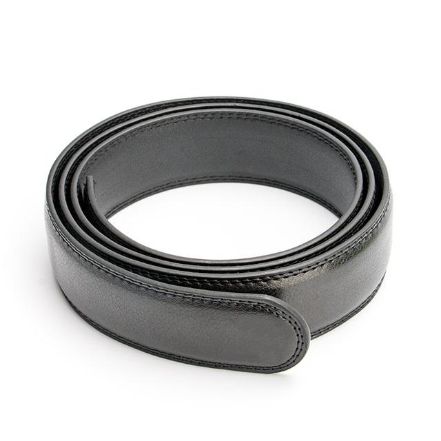 Sólo negro Blanco Cinturón Cinturones de Hombre de Cuero Verdadero Genuino de La Boda de Lujo de Negocios Automática Correa para Los Pantalones Vaqueros Pretina Sin Hebilla