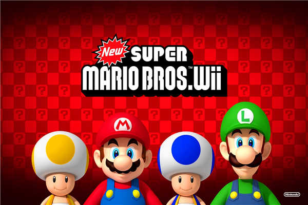 Free Shipping new super mario bros wii (2) Wallpapers Custom Canvas Posters Game Stickers Home Decoration Gift #PN#487#