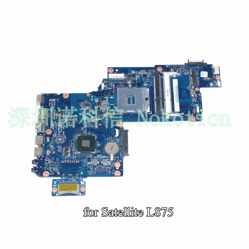 NOKOTION H000043480 For toshiba satellite L870 C870 L875 laptop motherboard 17.3 inch HM76 HD4000 Graphics nokotion for toshiba satellite c850d c855d laptop motherboard hd 7520g ddr3 mainboard 1310a2492002 sps v000275280