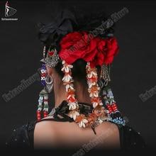 Dance-Headbands Ats Tribal Headpiece-Accessory Gypsy Belly-Dance Women Hand-Made