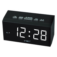 Smart Led Digital Alarm Clock With EU Plug 24 Hrs Time Display Table Clock Bedside Electronic