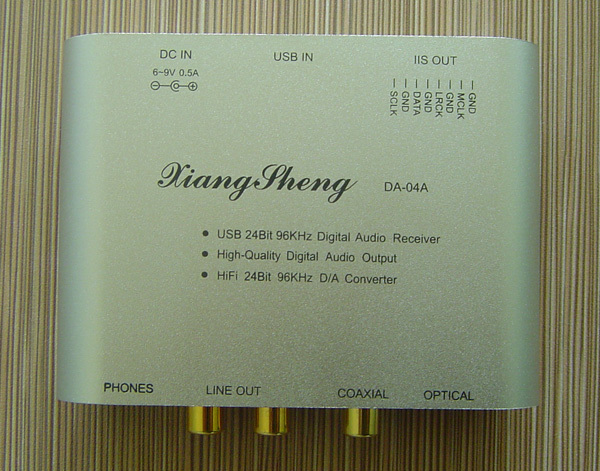 XiangSheng WM8761 24bit 96KHz mini USB DAC HIFI EXQUIS TE7022 decoder Coaxial RCA headphone output