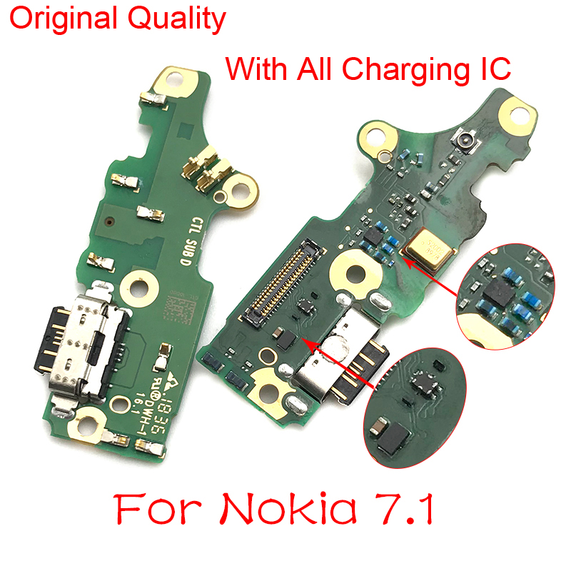 For Nokia 7.1 USB Charging Port Charger Dock Antenna Connector Mic Flex Cable Circuit Board