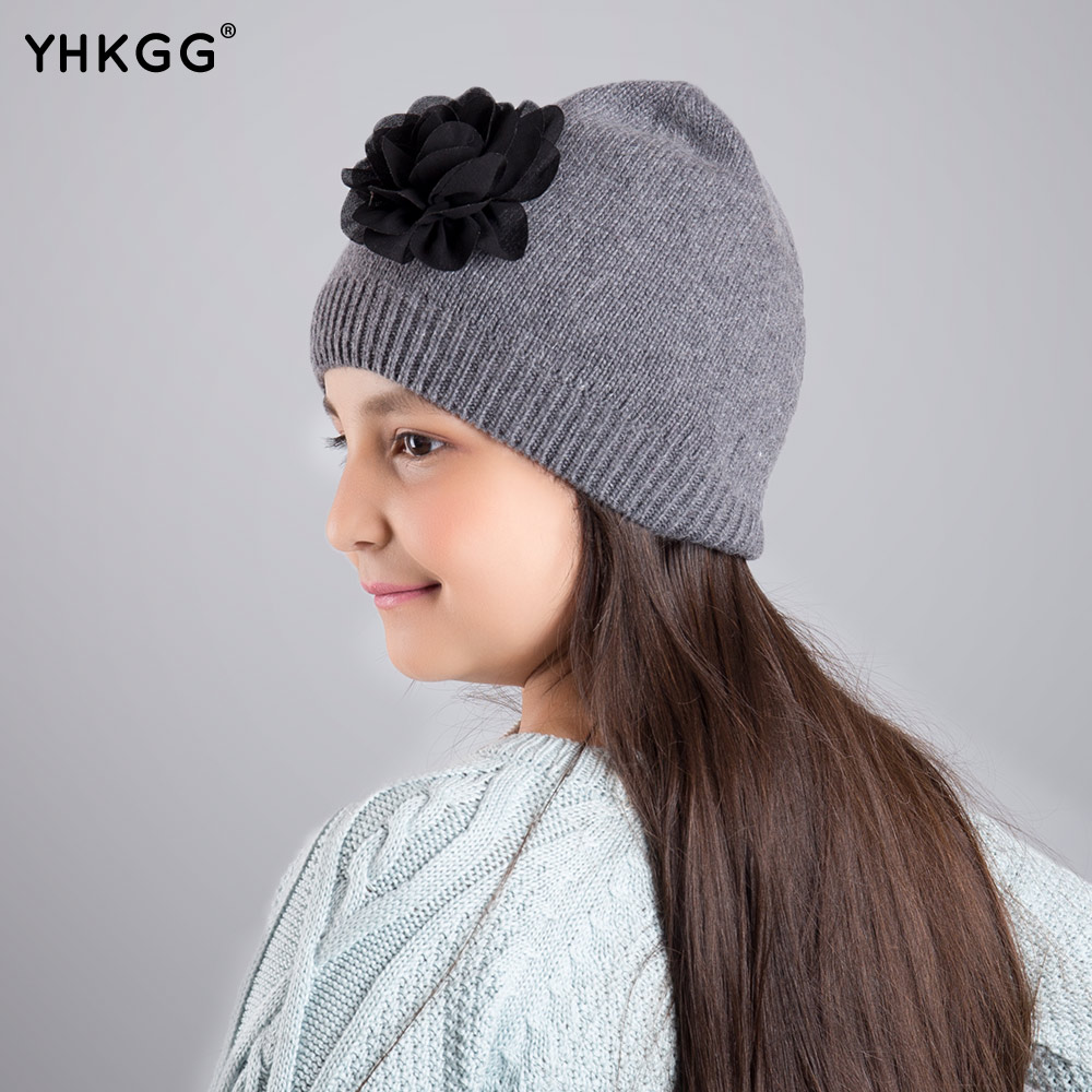 2017 YHKGG The girl's hat Warm and comfortable in winter hats The ornament of a flower Cute baby hat knitting hat in situ detection of dna damage methods and protocols