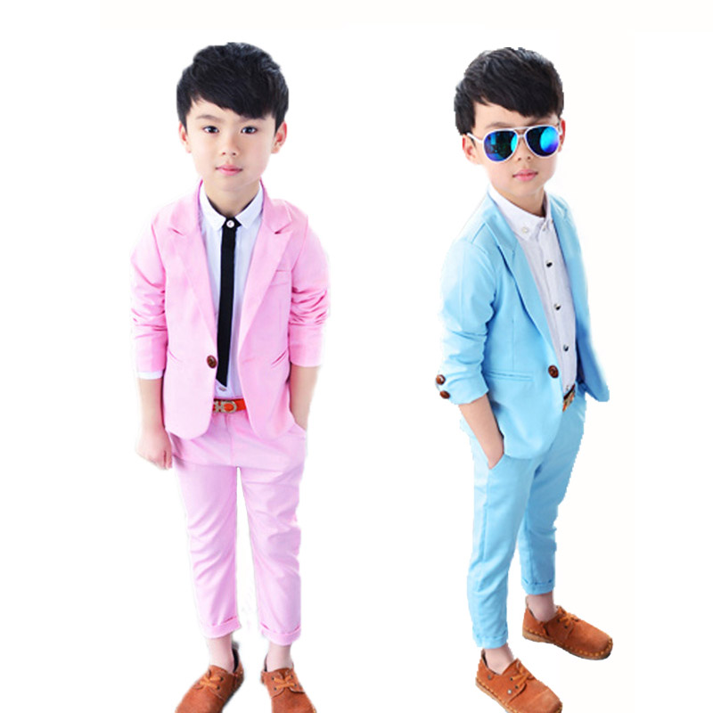 Flower Children's Baby Kids Boys Dress Formal Gentleman Blazers Suits Two piece Set For Boys Weddings And Party Clothing Sets 63 baby boy clothes suits vest plaid shirt pants 3pcs set party formal gentleman wedding long sleeve kid clothing set free shipping