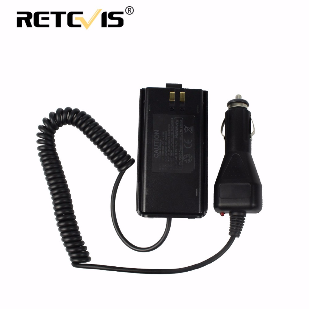 Walkie Talkie Accessories Car Charger Battery Eliminator 12-24V For Retevis RT1 For TYT TC-3000A Portable Two Way Radio J9106J