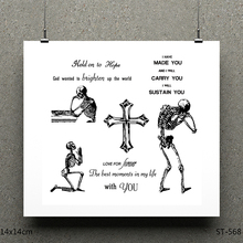 AZSG Love and death Clear Stamps/seal for DIY Scrapbooking/Card Making/Photo Album Decoration Supplies