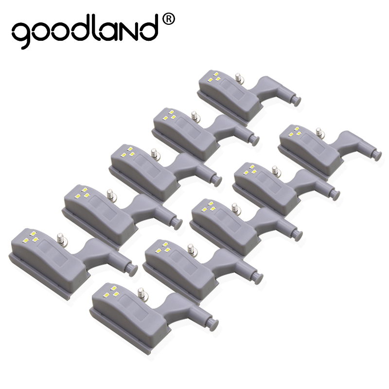 Goodland LED Night Light Automatic Motion Sensor Light Wardrobe Inner Hinge Lamp Cabinet Light For Kitchen Cupboard Closet