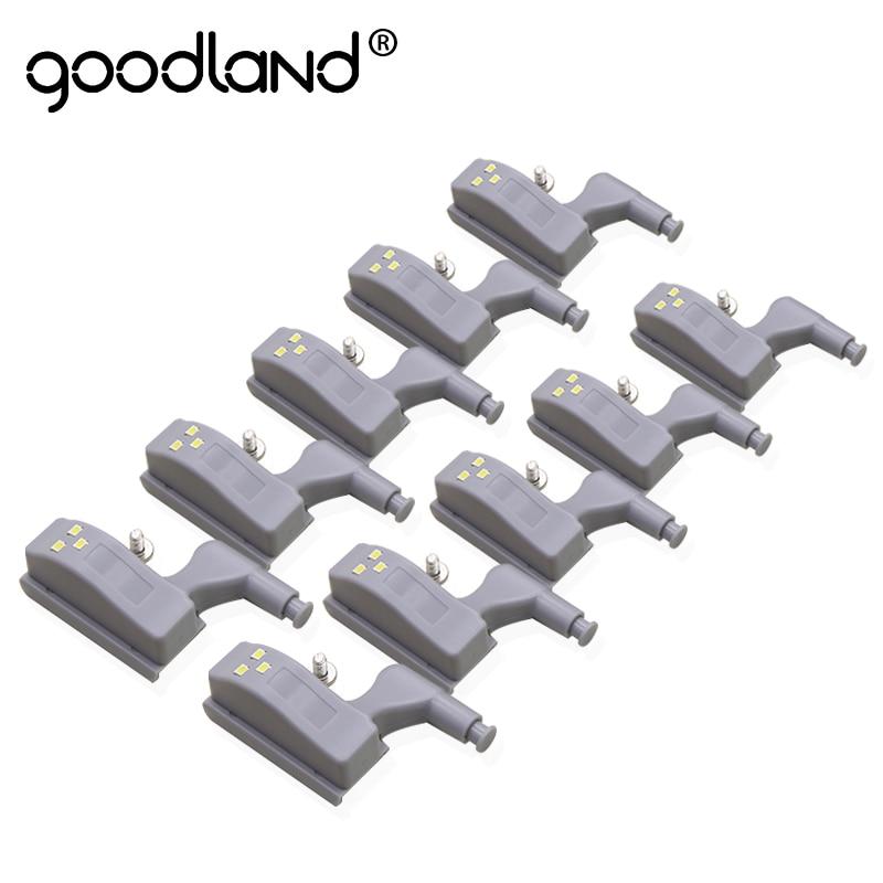 Goodland LED Night Light Automatic Motion Sensor Light Wardrobe Inner Hinge Lamp Cabinet Light For Kitchen Cupboard Closet