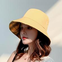 2019 Cotton Double sided black yellow embroidery Bucket Hat Fisherman outdoor travel hat Sun Cap Hats for Men and Women
