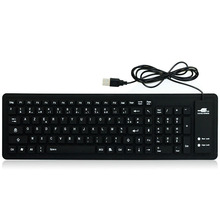JONSNOW Keyboard French Language 103 Keys Folding Wired Waterproof Soft Silicone for Laptop Desktop Tablet Computer