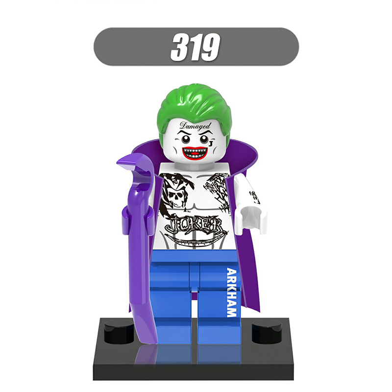 Single Sale DC Superheroes Minifigures Suicide Squad Joker Harley Quinn Batman Building Blocks Kids Toys Gift