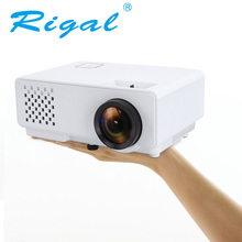 Rigal RD-810 Mini Proyector de 1000 Lúmenes proyector LCD Portátil 800*480 Pixel 1080 p 720 p uso doméstico teatro proyector