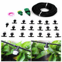 10/20/25m Garden DIY Micro Drip Irrigation System Plant Self Automatic Watering Timer Garden Hose Kits With Adjustable Dripper