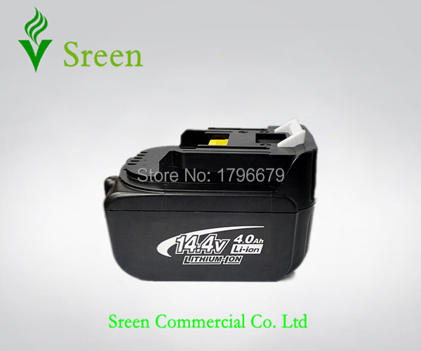 Spare 14.4V Li-ion 4000mAh Rechargeable Battery Packs Replacement for Makita Power Tool Battery BL1430 194065-3 194066-1