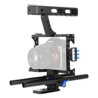 Lightdow VD 07 15mm Rod Rig DSLR Camera Cage Stabilizer+Top Handle Grip for Sony A7 II A7r A7s A9 A6300 A6000 Panasonic GH4 GH3