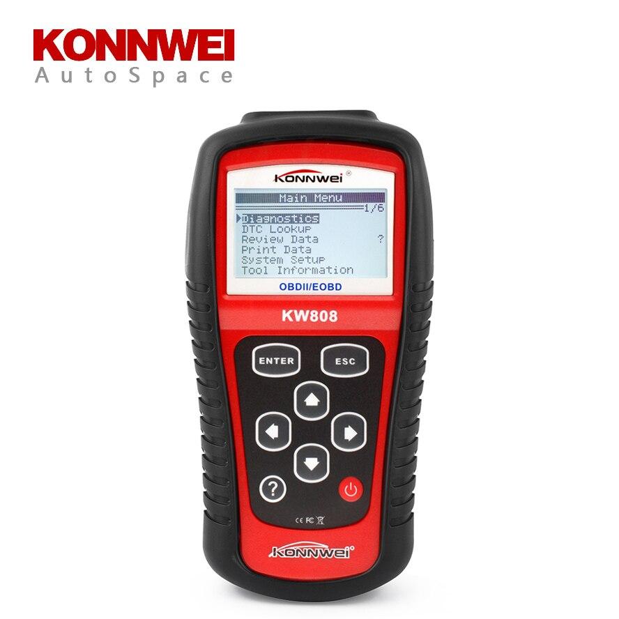 KONNWEI KW808 Auto OBDII EOBD Scaner Diagnostic Tool Errors Code Reader Scanner OBD2 MS 509 OBD 2 II Scan PK MS-509 MS509 ps100 can obdii eobdii scanner for multiple brand vehicles