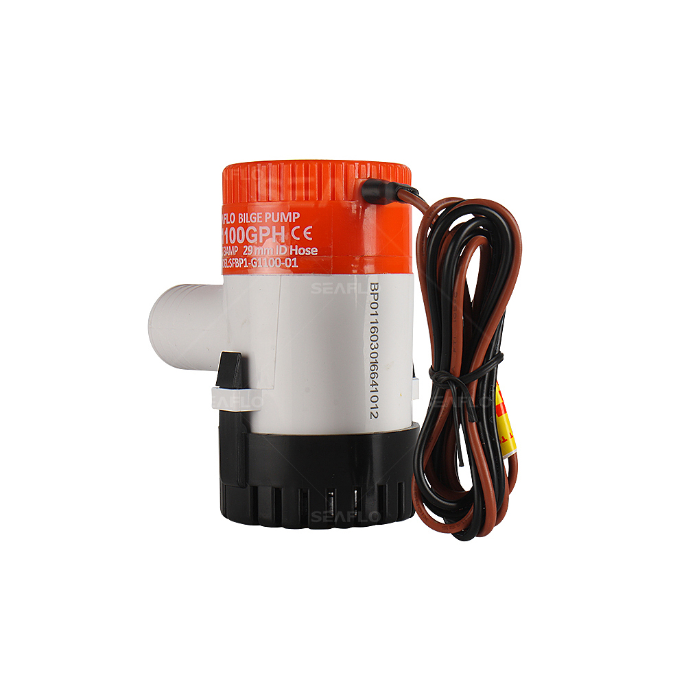 SEAFLO 12v 1100GPH SUBMERSIBLE MARINE BILGE PUMP with AUTO FLOAT SWITCH rohs iso