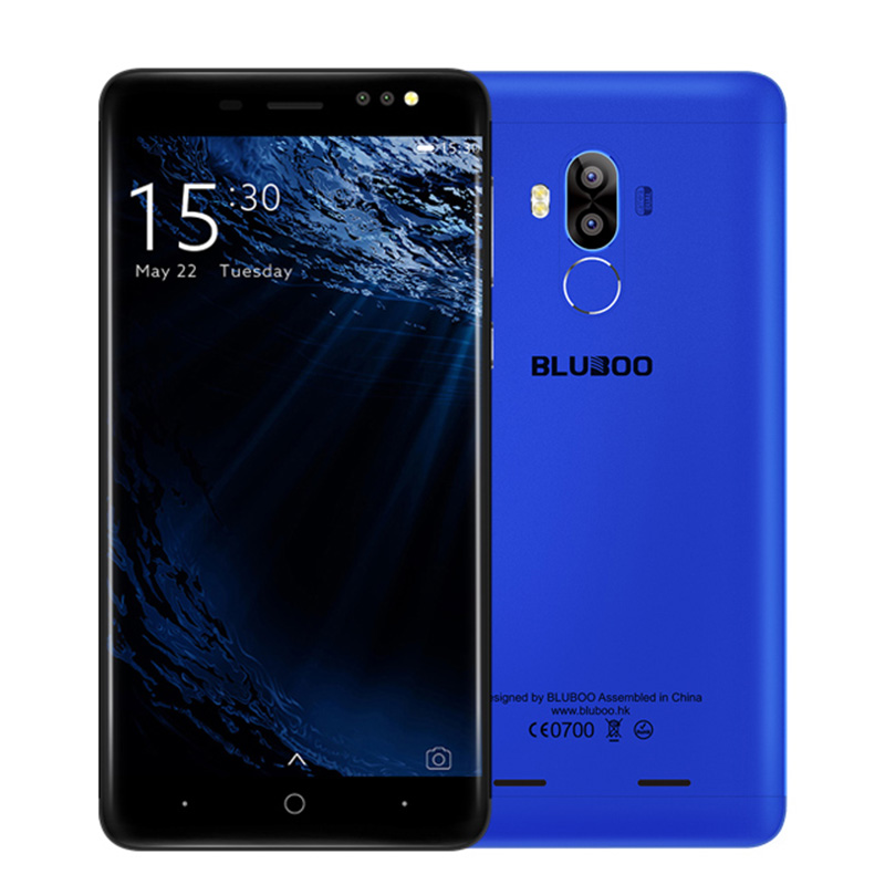 Original Bluboo D1 Smartphone MTK6580A Quad Core Android 7 0 2GB 16GB 8MP Fingerprint 2600mAh 3G