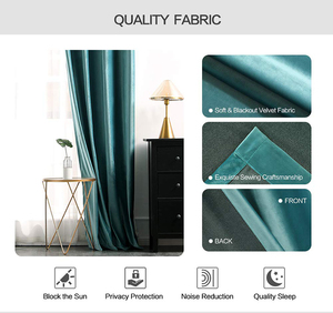 Image 3 - Luxus Samt Blackout Vorhänge für Wohnzimmer Hohe Shading Solide Vorhang für Das Schlafzimmer Jalousien Vorhänge Fenster Tür Blau Gelb