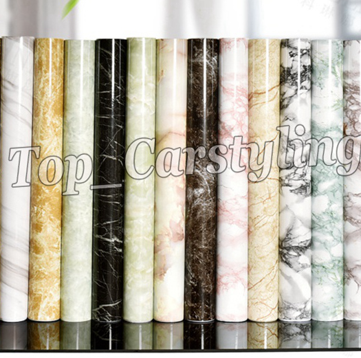 High quality marble grain vinyl Self Adhesive Stickers foil Wallpaper For wall floor door decoration PROTWRAPS 1.22x50m Roll