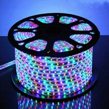 25 meter SMD 5050 AC220V RGB LED Strip Flexible Light 60