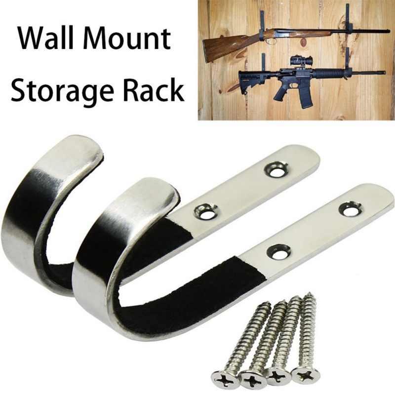 1 para pistolet do montażu na ścianie stojak do przechowywania J hak typu karabin pistolet ze stali nierdzewnej do stojaka na narzędzia