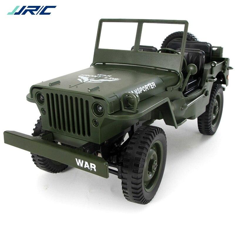 JJRC Q65 1:10 RC Voiture 2.4G 4WD Convertible télécommande Lumière Jeep Quatre Roues Motrices Hors Route Militaire escalade Voiture Jouet Enfant Cadeau